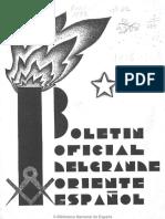 Boletín Del Grande Oriente Español. 10-1-1932