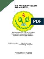 Analisa Perilaku Konsumen Pt Kereta API Indonesia 2