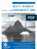 democracy market and transparency 2006