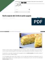 Www Pensorosa It Ricette Semplici Ricetta Originale Della Tortilla