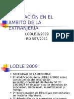 Reglamento de extranjería 2011