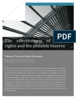 The Effectiveness of Social Rights and the Possible Reserve