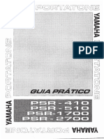 Manual Teclado Yamanha PSR - 410.
