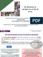 No Alimentes La Caridad Con Un Kilo de Arroz