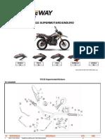 Keeway - Catalogo Pecas TX125 Suspensao Invertida