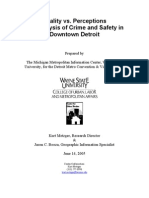 Reality vs. Perceptions An Analysis of Crime and Safety in Downtown Detroit