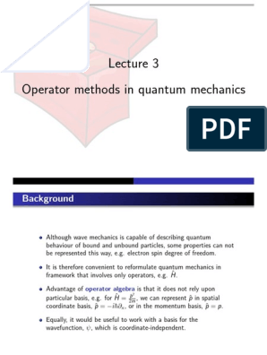 Operator lesson PowerPoint pdf   Wave Function   Quantum