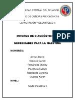 Informe de Diagnostico de Necesidades Incompleto