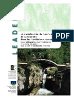 La valorisation du tourisme de randonnée  dans les territoires ruraux