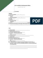 Ficha de Recolha de Informação Clínica