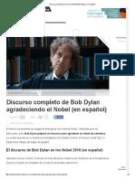B. Dylan Nobel Speech