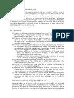CONTENIDO DE AGUA PARA PREMEZCLA DE EMULSION ASFALTICA