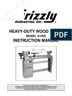 Grizzly G1495 Wood Lathe Manual
