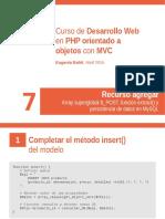 Recurso Agregar (PHP - MVC)