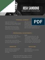 Josh Sambono CV
