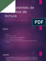 Componentes de Los Textos de Lectura