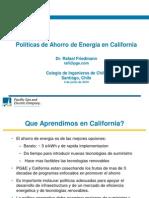 Políticas de Ahorro de Energía en California - Rafael Friedmann