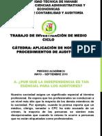 PRINCIPIO DE INDEPENDENCIA DE LOS AUDITORES