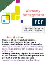 W13 Warranty Management