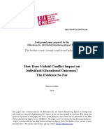 Violent Conflict Effects on Individual Educational Outcomes