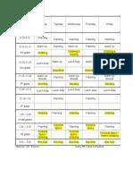 schedule - web