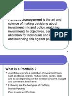 Portfolio Management WP -Introduction