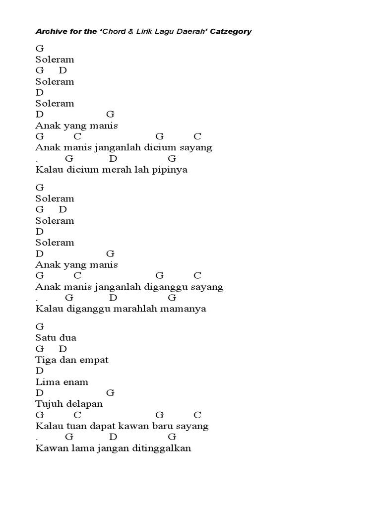 Chord Piano Lagu D G