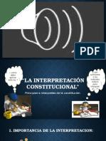 IMPRETACIÓN CONSTITUCIONAL