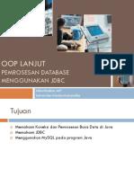 Lecture 07 - Pemrosesan Database Menggunakan JDBC.pdf