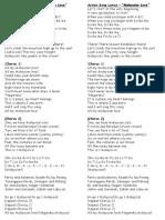 Action Song Lyrics Malaysian Love Long Sheet