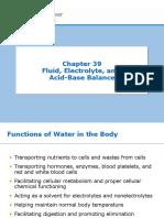 Chapter 39 - Fluid, Electrolyte, And Acid-Base Balance