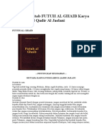 Terjemah Kitab FUTUH AL GHAIB Karya Syekh Abdul Qadir Al
