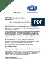 APG Demonstrate Conformity 2015