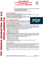 DEPORTE | Reglamento XXXIX Media Maratón Popular y IV Doble Legua de Coslada
