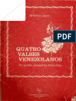 4 Valses Venezolanos - Antonio Lauro - Revised by Alirio Diaz