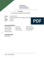Protokoll der ordentlichen Generalversammlung 2016