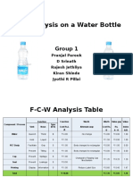 FCW Analysis on a Water Bottle