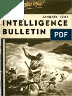 Intelligence Bulletin ~ Jan 1944