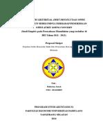 288283789-Proposal-pengaruh Likuiditas, Debt Default Dan Opini Audit Tahun Sebelumnya Terhadap Penerimaan Opini Audit Going Concern