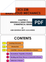 ECS 238 - Chapter 2b (Bending and Shear Stresses and in Symmetrical Beams)