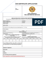 Application for Population Certificate