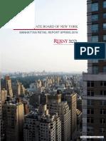 REBNY Manhattan Retail Report Spring 2016