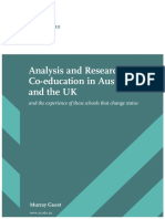 Analysis and Research Into Co-education in Australia and the UK