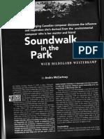 Soundwalk in the Park With Hildegard Westerkamp