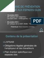 18 Octobre 2013 29 e Colloque SST, Saguenay Lac-Saint-Jean Chibougamau Chapais