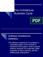 Software Architecture Business Cycle