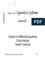 Laplace Differential Eqns Circuits
