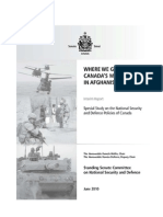 Senate report on Canada's future in Afghanistan