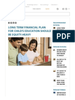 Long Term Financial Plan for Child