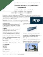 Procedure of Inserting Rh Girder Method in Road Under Bridge